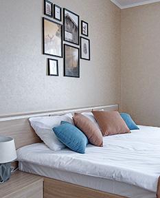 Большой двухместный номер с 1 кроватью или 2 отдельными кроватями